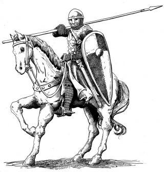 Cavaliere pronto alla battaglia
