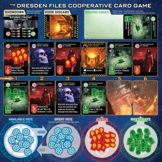 The Dresden Files cooperativa card game