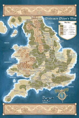 Pendragon rpg map