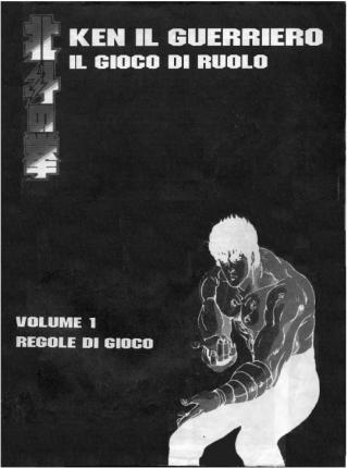 Copertina manuale regole GDR Ken il guerriero