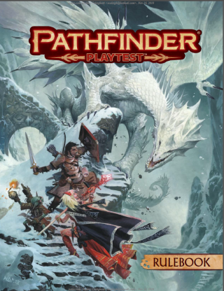 Pathfinder second edition rulebook cover