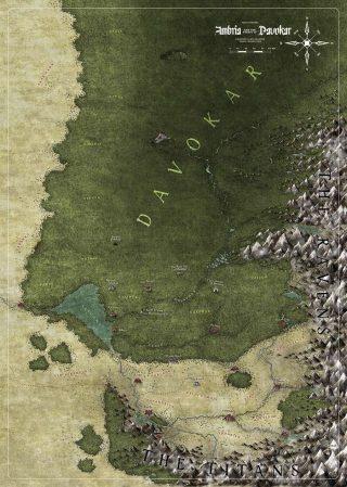 Symbaroum, mappa di Ambria e del Davokar
